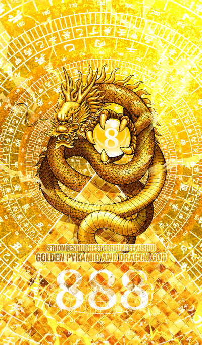 Golden pyramid and dragon god 8