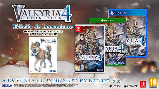 Ya disponible la demo de Valkyria Chronicles 4