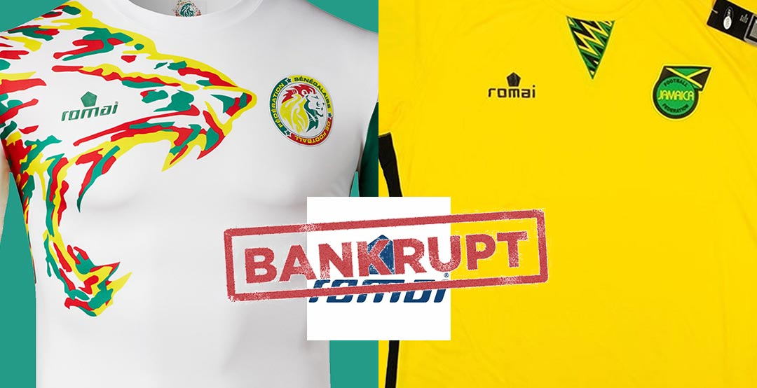 e777166c2 Everything indicates that sportswear brand Romai Sports has gone bankrupt  as the UAE-based company has lost all of their kit sponsorship deals  recently.