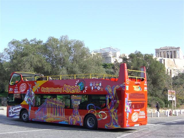Passeio no ônibus panorâmico por Atenas