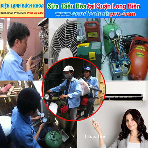 Sửa điều hòa tại nhà ở quận Long Biên