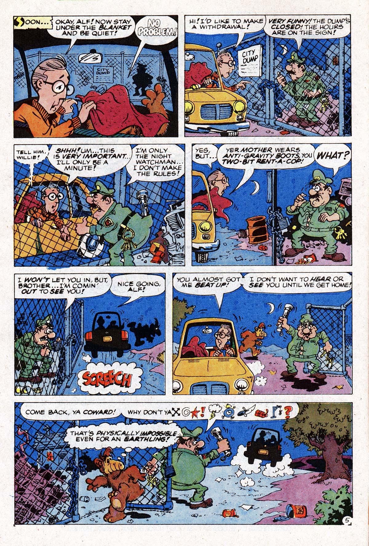 Read online ALF comic -  Issue #1 - 6