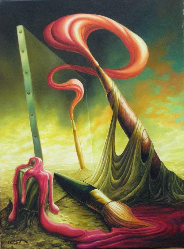 Inspiração ll - Ileana Cerato e seu surrealismo nostálgico ~ Pintor argentino