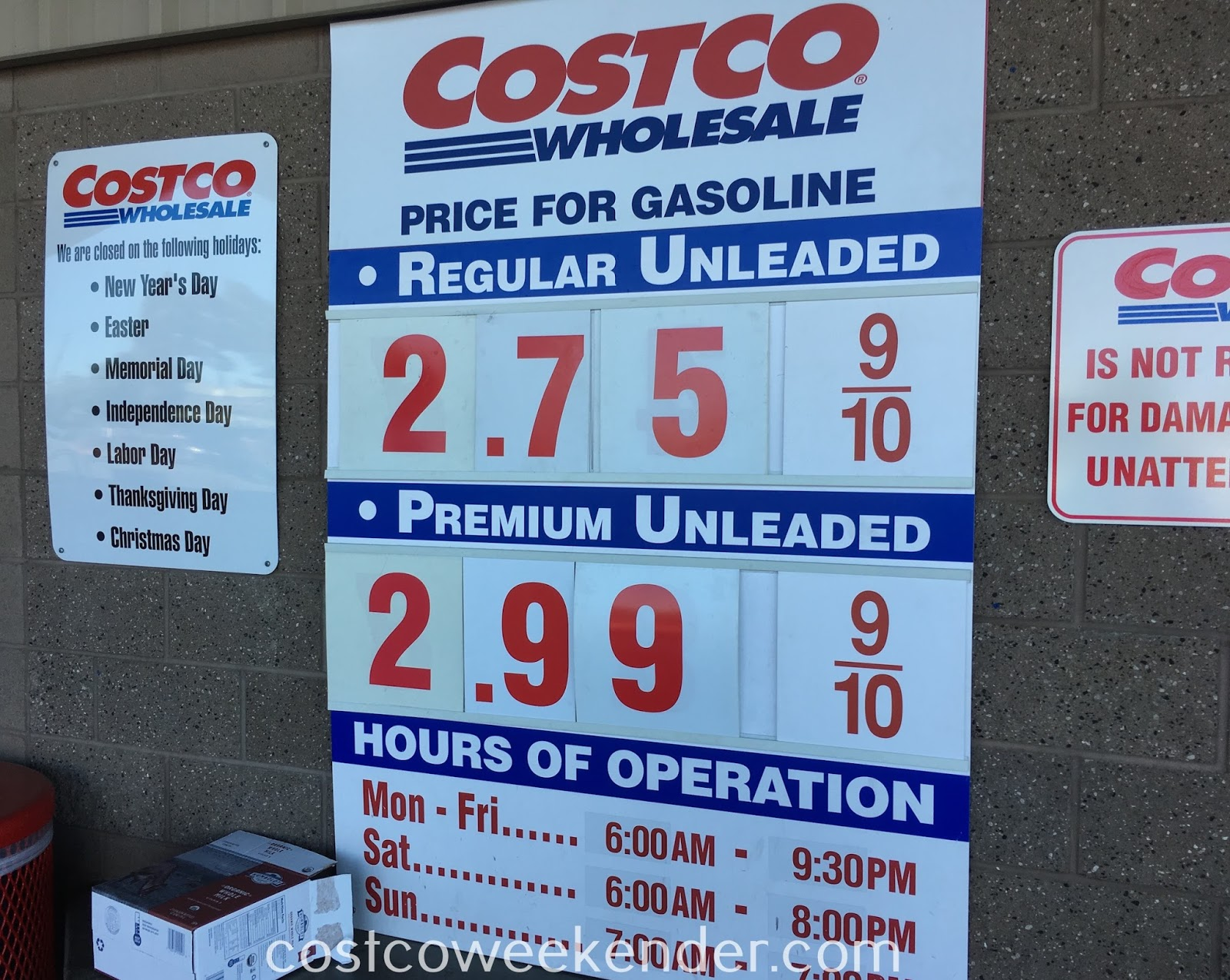 Costco gas for March 12, 2017 at Redwood City, CA