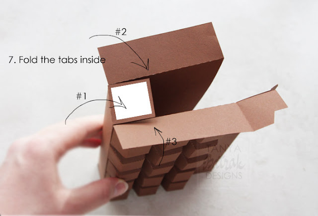 paper chocolade bar hot to assemble