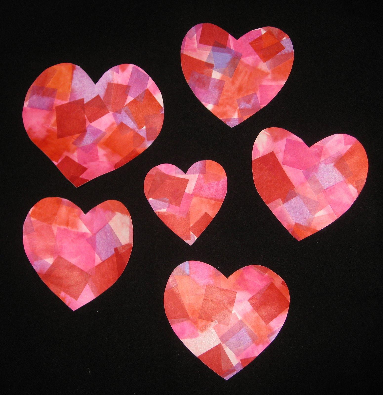 Cindy deRosier: My Creative Life: Tissue Paper Hearts