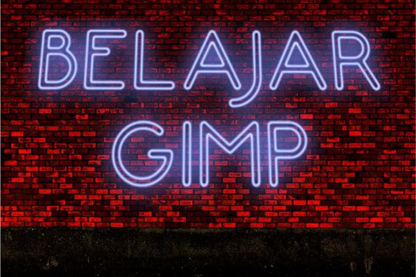 efek lampu neon di GIMP
