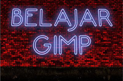 Cara membuat efek lampu neon di GIMP