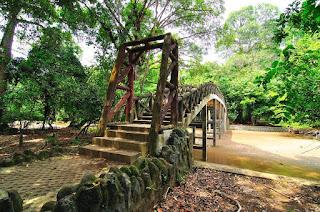 jembatan penyebrangan di cagar alam pangandaran