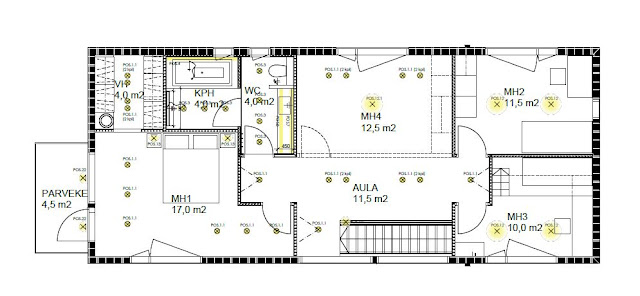 lighting plan, upstairs