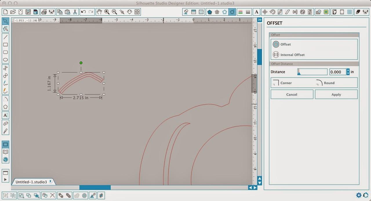 Monogram, pumpkin, Silhouette Studio, Silhouette tutorial, offset tool