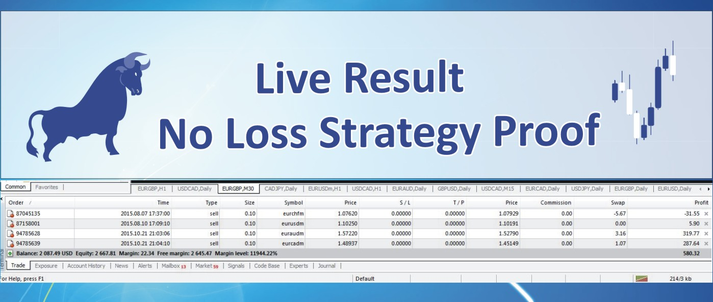 Update No Loss Multipairs Trading Strategy Live Proof Result ~ Real Forex Trading Profit Systems