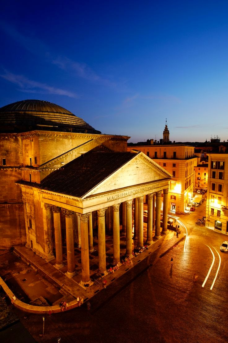 10 Hottest Summer Destinations In Europe | Pantheon at night