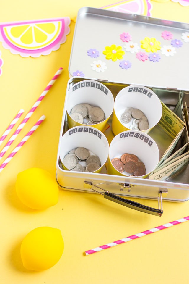 Make your own lemonade stand money box!