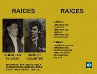 """AGUJETAS EL VIEJO Manuel Agujetas """"Raíces"""" David Serva CF 1977"""