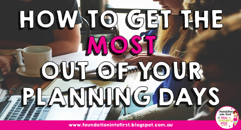 How to get the most out of your year level planning days. Teachers working through the curriculum during meetings need agenda, minutes and a set time frame. Read more at #teacherblog #foundationintofirst #teacher #meeting #planning