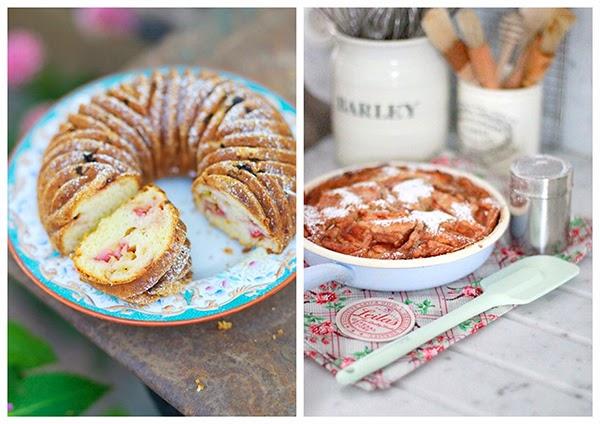 bundt cake pan and enamel frying pan