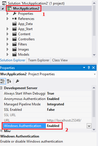 Windows Authentication in MVC4 with IIS Express