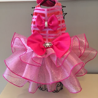 Coco the Cornish Rex Pink Velvet Tutu Dress