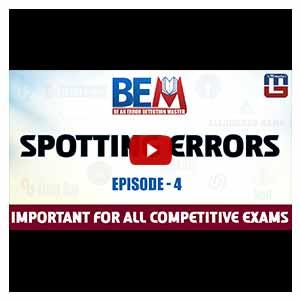 SPOTTING ERRORS | EPISODE 4 | BEM | ENGLISH | BANK & SSC SPECIAL