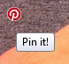 Pin It Small Round Hover Button