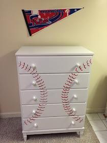 SECOND CHANCES Baseballthemed Dresser Makeover