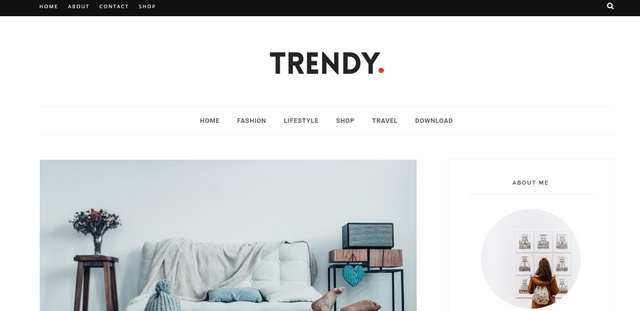 Trendy Responsive Blogger Templates