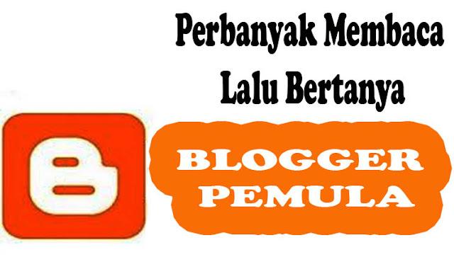 Buat Blogger Pemula, Perbanyak Membaca Lalu Bertanya