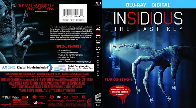 Insidious The Last Key Bluray Cover