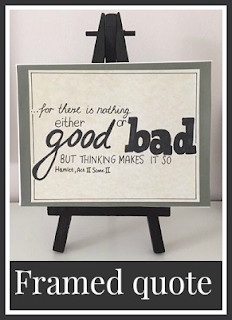 Framed Shakespeare quote craft