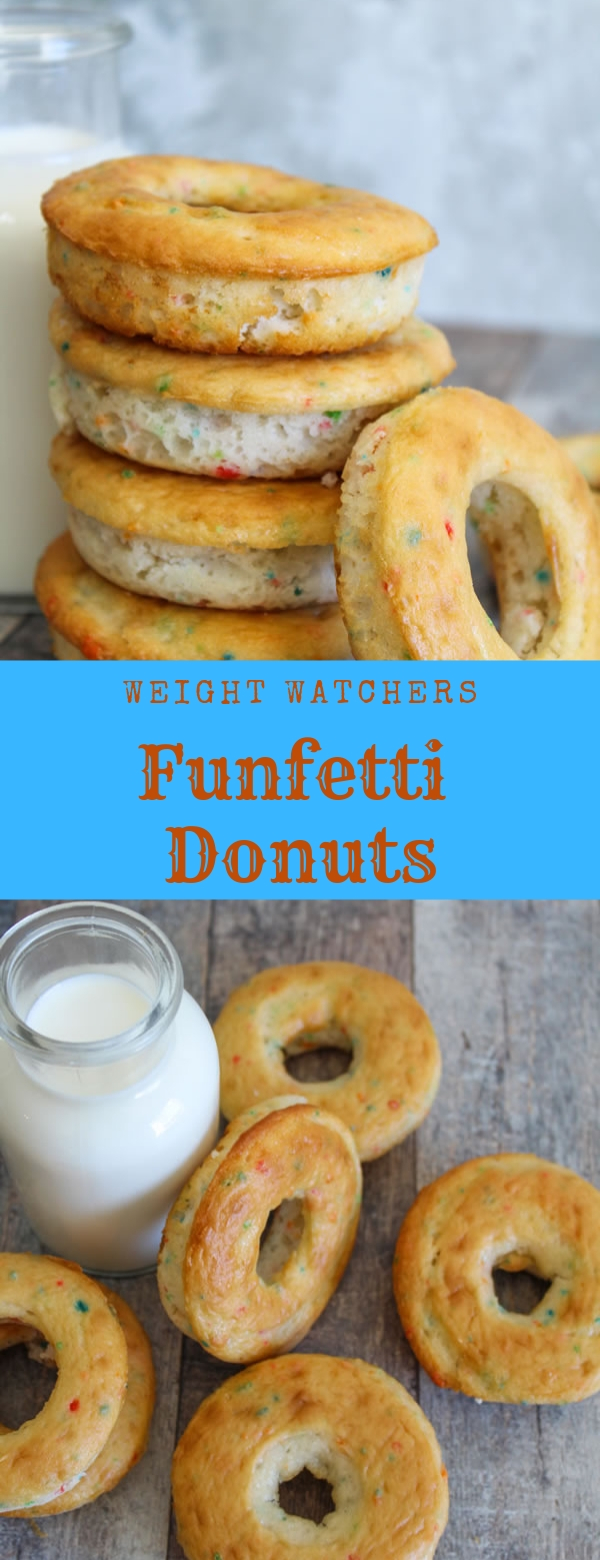 Weight Watchers Funfetti Donuts #Weight Watchers