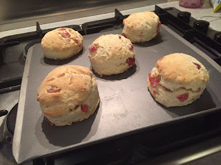 Cherry and vanilla scones