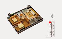 Thiết kế căn 1 tòa B chung cư Gemek Tower