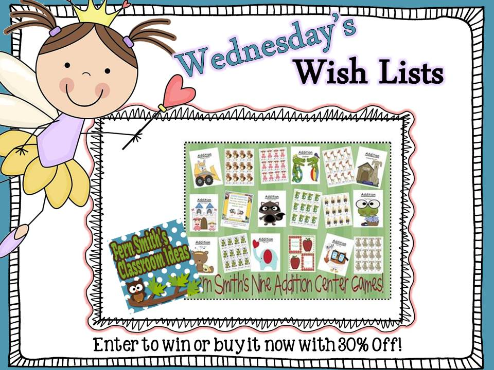 Fern Smith's Classroom Ideas Wish List Wednesday Giveaway: Nine Addition Center Games With a Year Round Theme