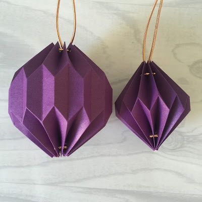 Both completed origami lanterns.  From Tutorial using Silhouette Cameo by Nadine Muir from Silhouette UK Blog