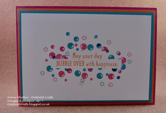 Bubble Over, Stampin' Up!, Oakfield House, Challenge