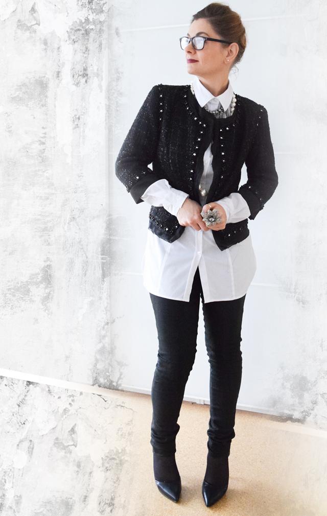 Look in Schwarz Weiß