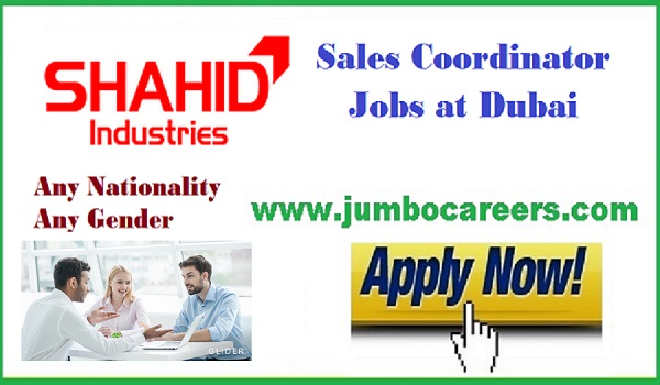 UAE sales coordinator jobs salary, Latest Dubai jobs with descriptions,