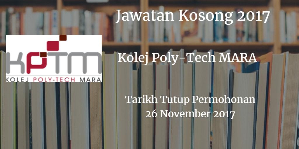 Jawatan Kosong KPTM 26 November 2017