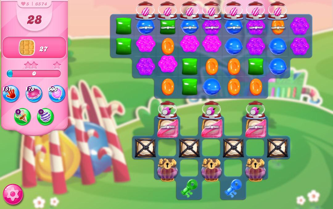 Candy Crush Saga level 6574