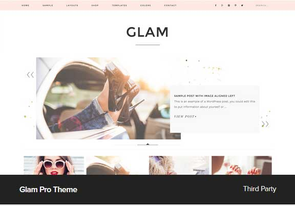 Glam Pro Theme Award Winning Pro Themes for Wordpress Blog : Award Winning Blog