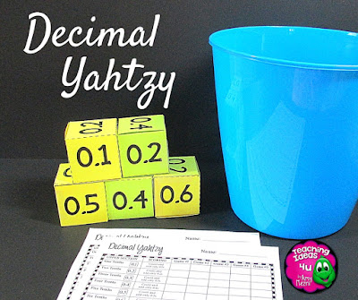 Yahtzy: An Easy Way to Learn & Have Fun - Are you looking for a way to keep students engaged in math or language arts? Yahtzy games are easy to set up and use!  Freebie included in post.