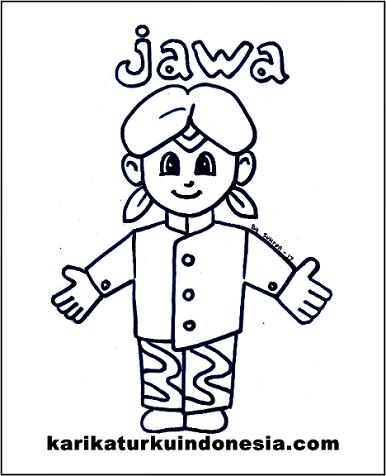 Gambar Kartun Baju Adat Jawa Tengah