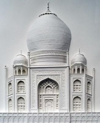 Arte papel y El Taj Mahal