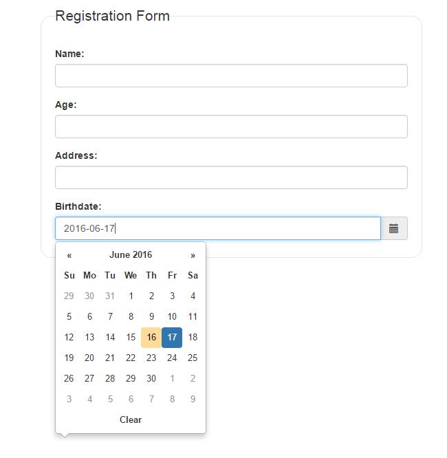 Bootstrap DatePicker Control in ASP NET Webforms ~  NET GENE