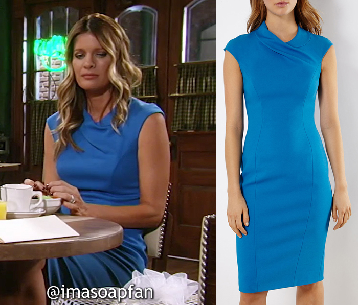 Nina Reeves, Michelle Stafford, Bright Blue Sheath Dress, Karen Millen, GH,  General Hospital