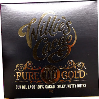 Willies Pure 100 gold dark chocolate low sugar