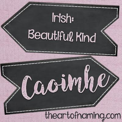 The Art of Naming - caoimhe pronunciation - how to pronounce caoimhe - Irish baby names  gaelic