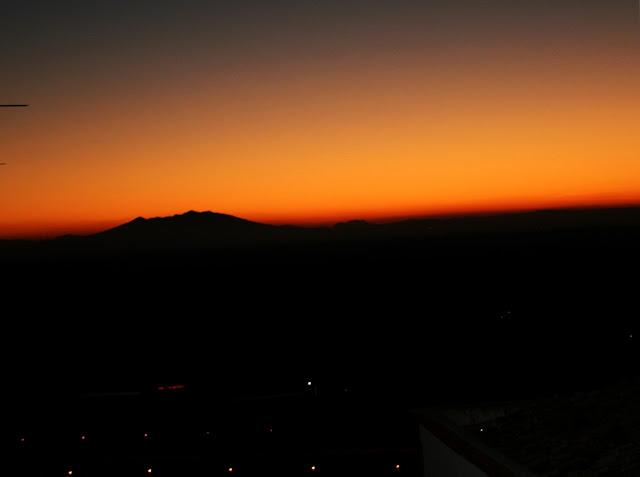monte, monte Vulture, sole, tramonto, cielo, luci, Minervino
