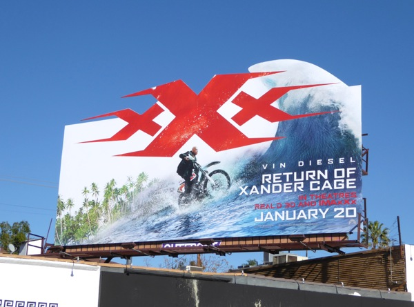 XXX Return of Xander Cage movie billboard